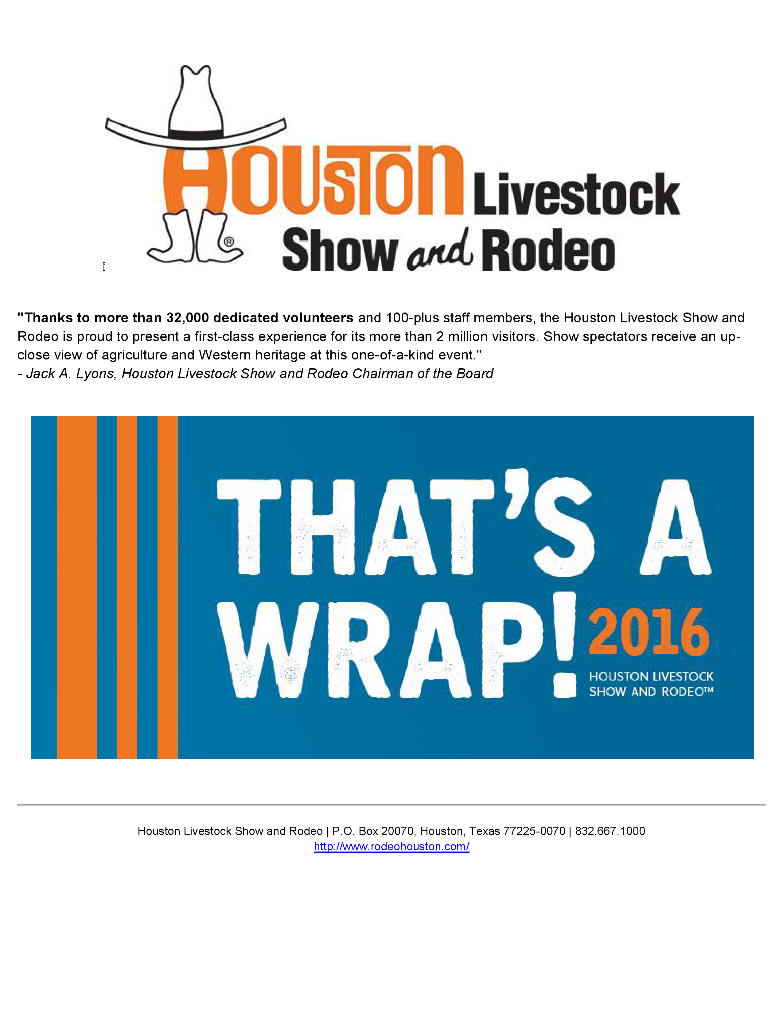 2016 Houston Livestock Show and Rodeo